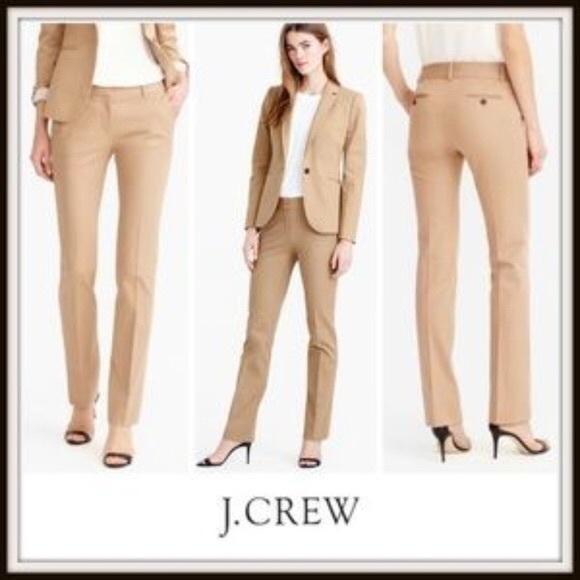 J.Crew CampBell Trouser Bi-Stretch Wool Pants